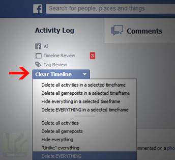 How To Delete All Your Facebook Activity 2